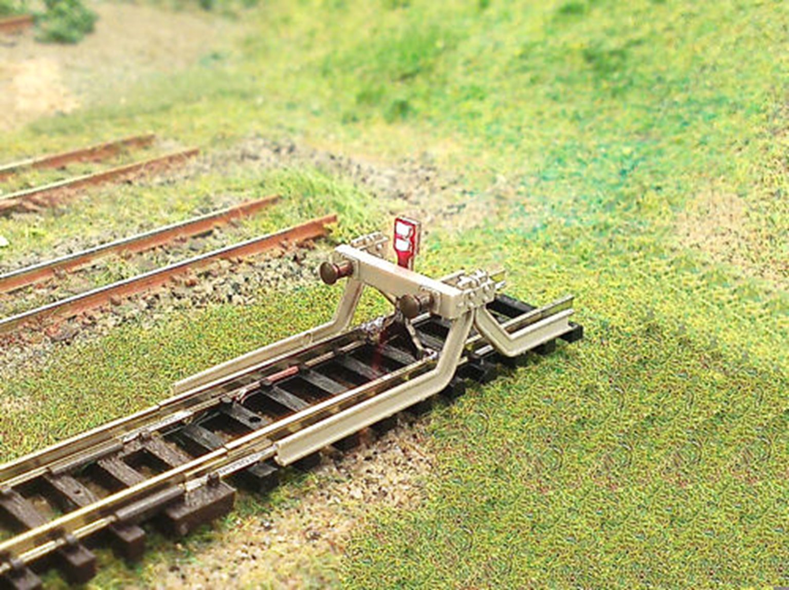 Buffer stop with light