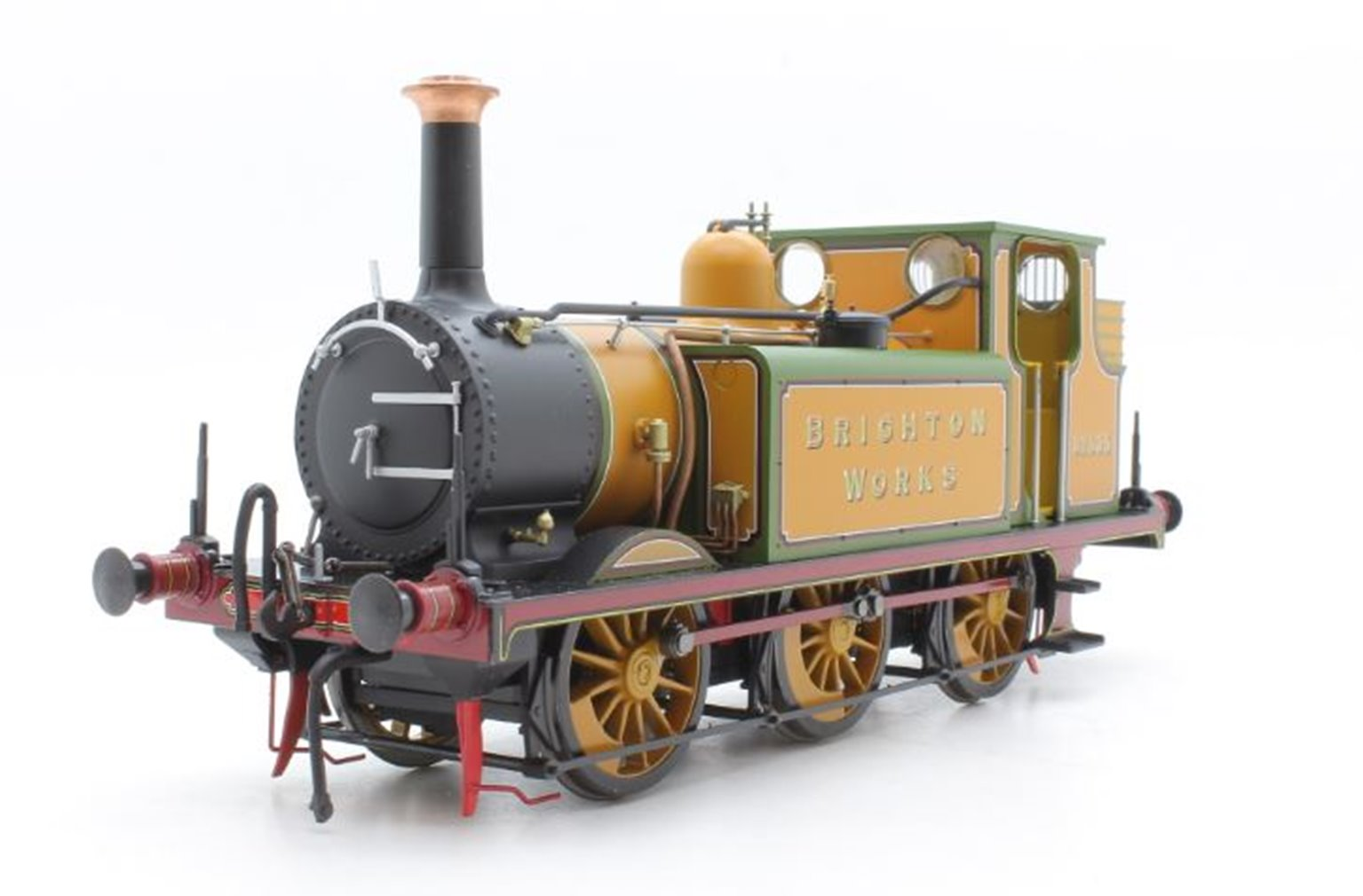 Class A1X Terrier Brighton Works 32635 in LBSCR improved engine green