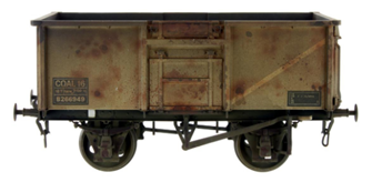 16t Mineral Wagon BR Grey 563824 Weathered