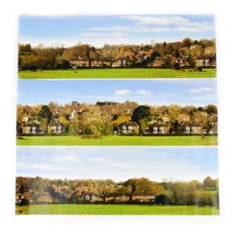Small Backscene - Village (1372 x 152mm)