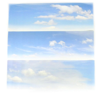 Small Backscene - Cloudy Sky (1372 x 152mm)