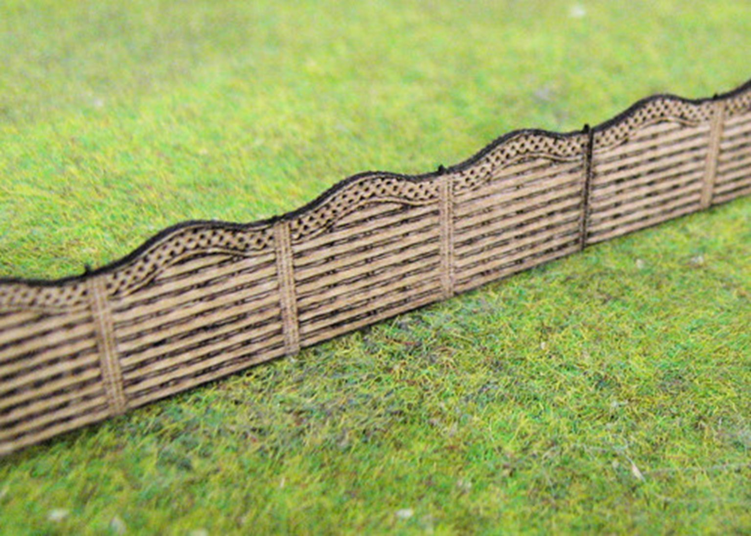 Wooden Fencing With Lattice Top 51mm