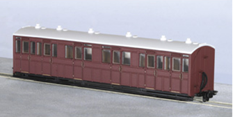 GR-400U 00-9 Composite Coach, Indian Red Unlettered