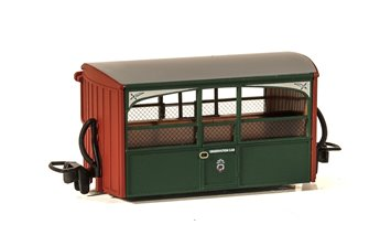 Ffestiniog Railway 'Bug Box' 4 Wheel Coach 'Zoo Car' Observation Early Preservation Livery
