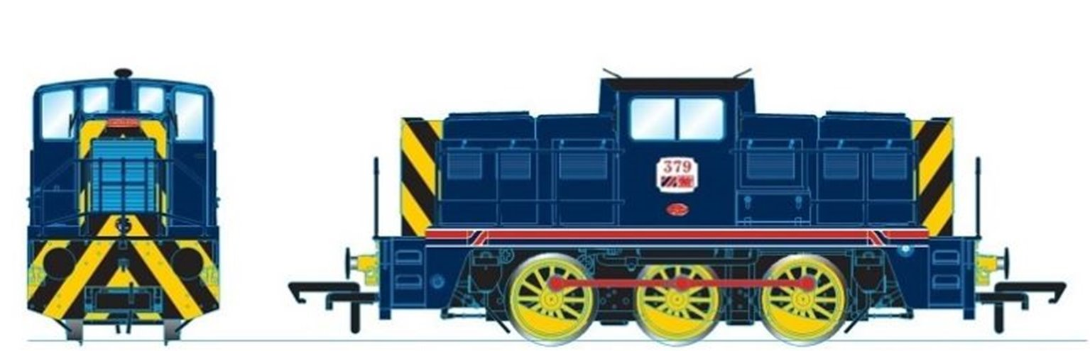 YEC Janus 0-6-0DE shunter No.379 in Allied Steel and Wire, Caerleon blue - DCC Sound Fitted
