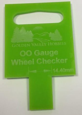 GOLDEN VALLEY HOBBIES GVB2BOO OO GAUGE - BACK 2 BACK WHEEL GAUGE 14.4MM