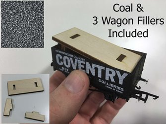 Golden Valley GVCOAL Hobbies Coal Wagon inserts plus loose Coal