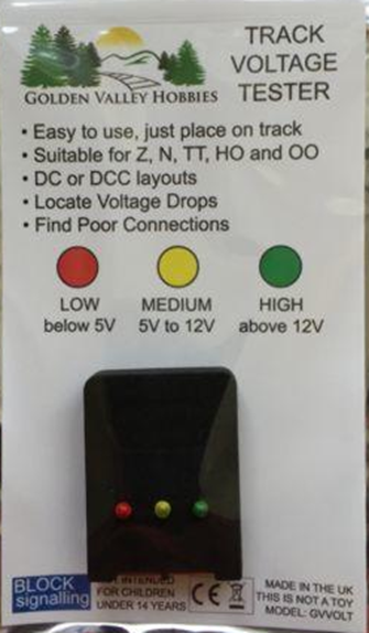 Golden Valley Hobbies Track Voltage Tester