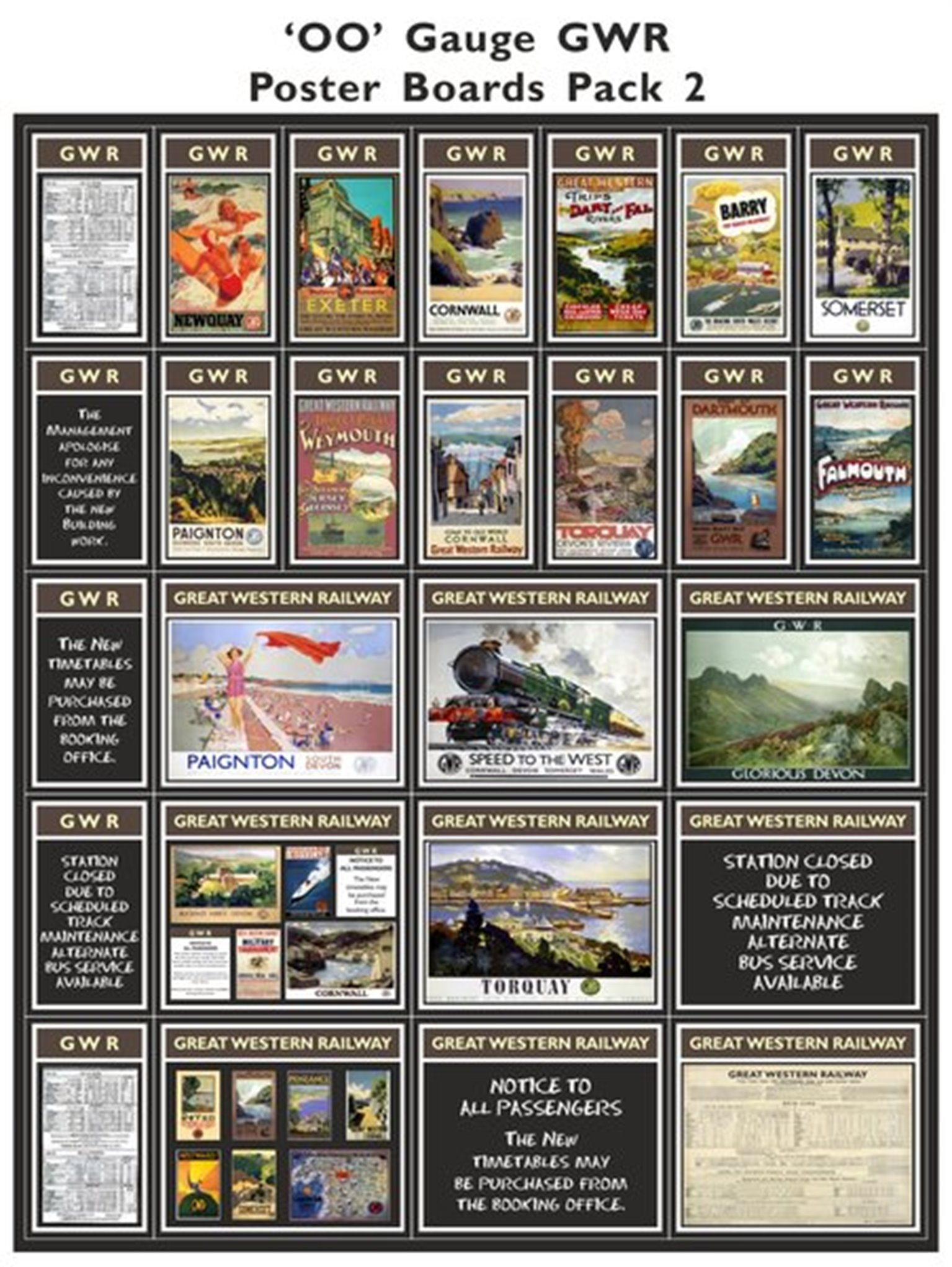 GWR Poster Boards Pack 2