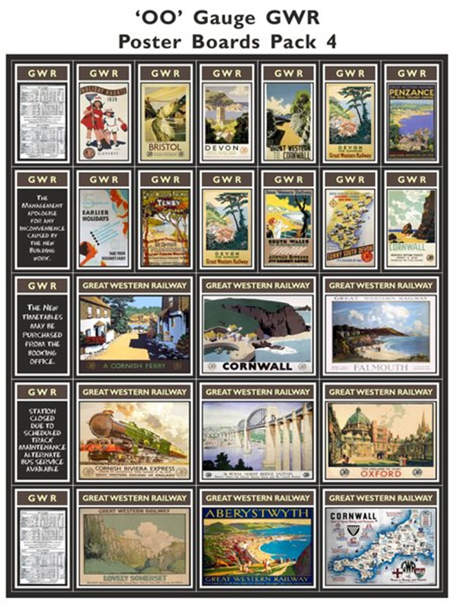 GWR Poster Boards Pack 4