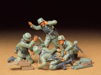 1/35 Military Miniature Series no.193 German Infantry Mortar Team