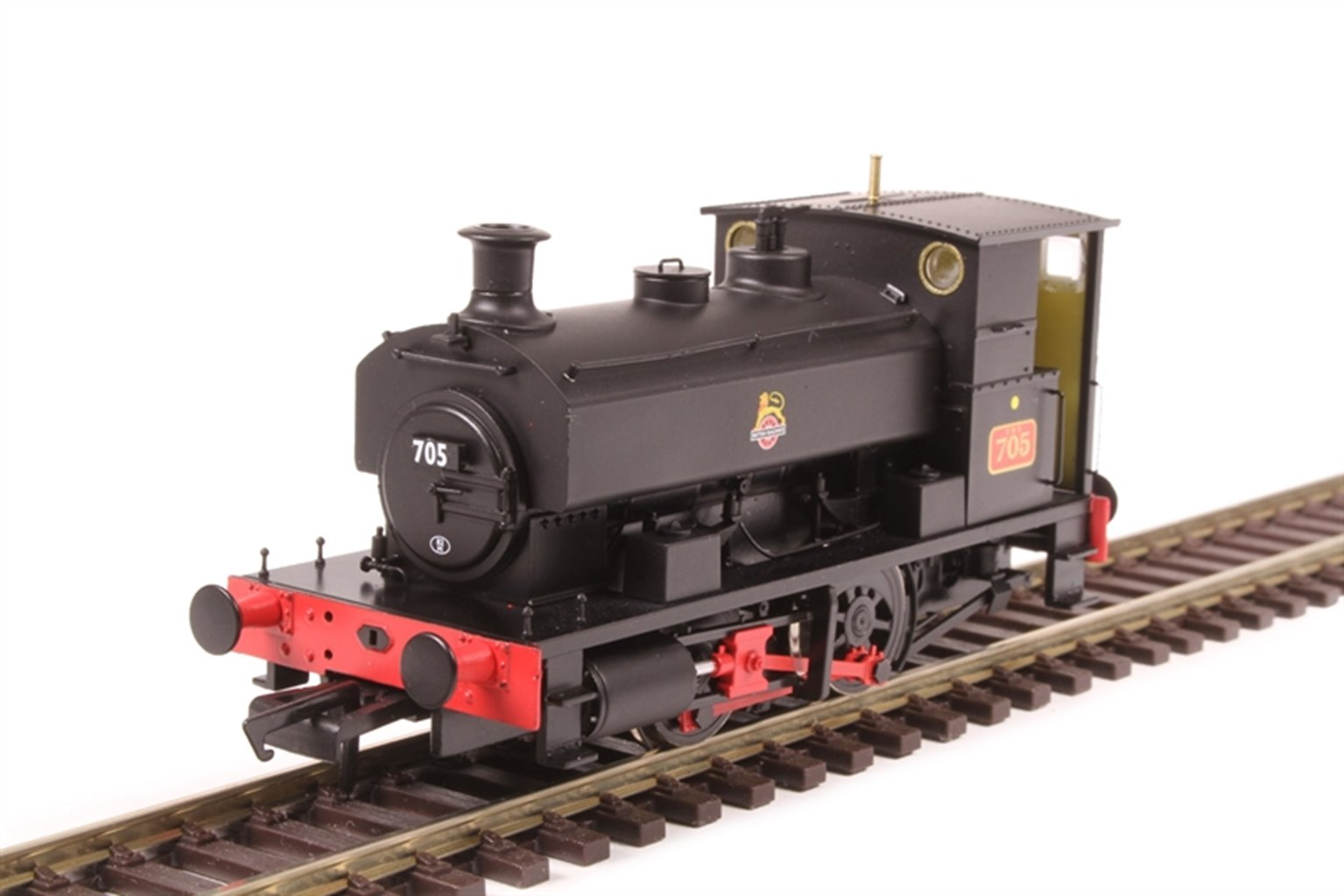 """Andrew Barclay 0-4-0ST 14"""" 2047 '705' in BR black with early crest"""