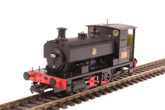 "Andrew Barclay 0-4-0ST 14"" 2047 '705' in BR black with early crest"