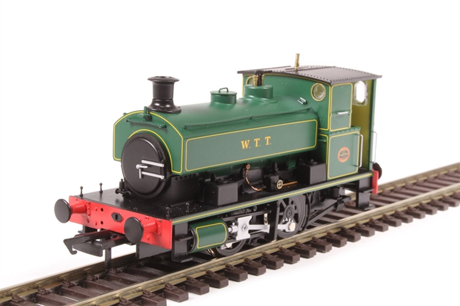 "Andrew Barclay 0-4-0ST 14"" 2134 ""WTT"" in lined green"