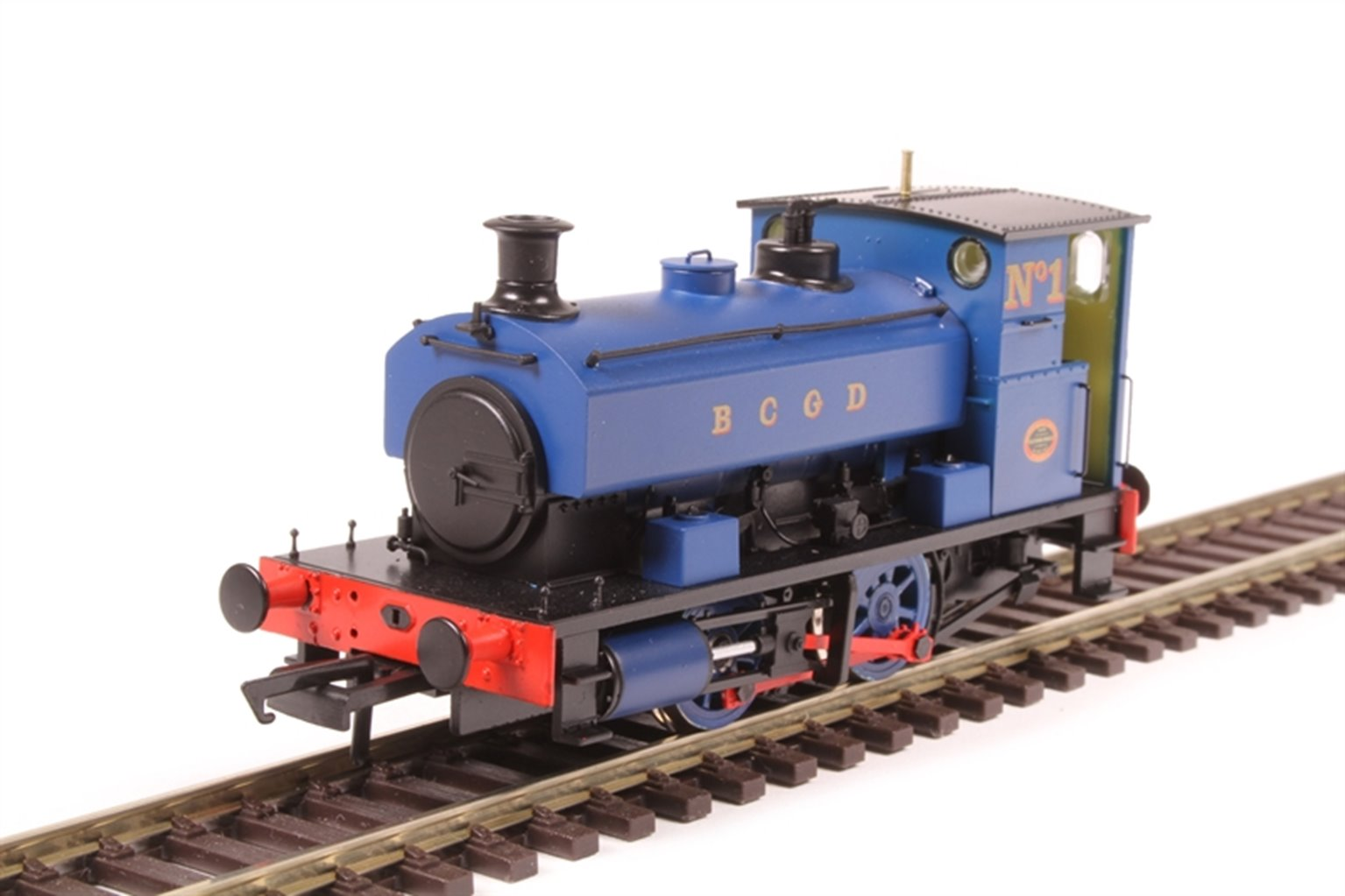 """Andrew Barclay 0-4-0ST 14"""" 1927 'No.1' in Burnley Corporation Gas Department blue"""