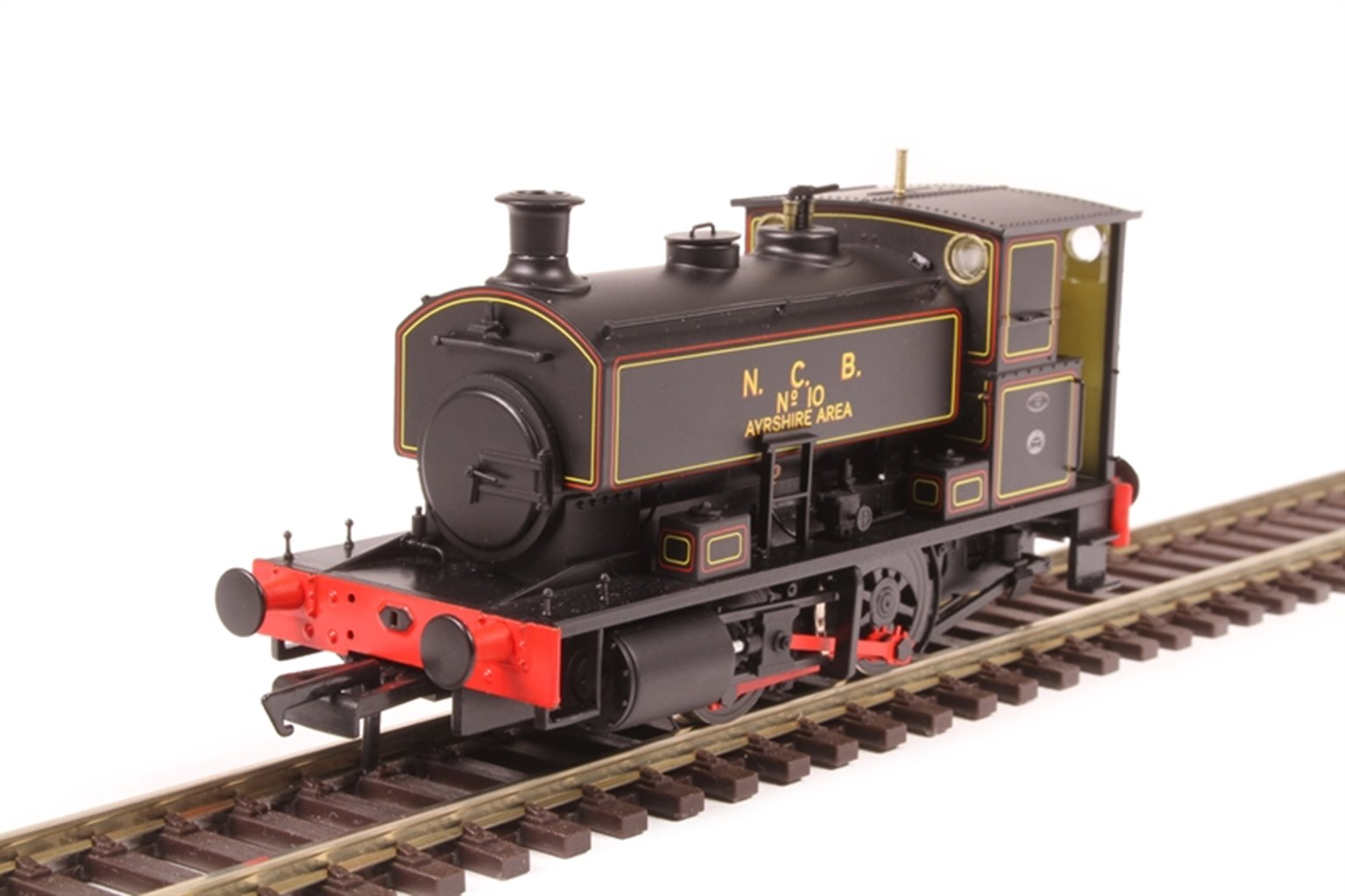 """Andrew Barclay 0-4-0ST 16"""" 2244 'No.10' in NCB lined black"""