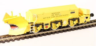 "Beilhack snow plough (ex Class 40) ZZA ADB965579 in BR yellow ""Stratford Shark"""