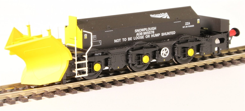 Beilhack snow plough (ex Class 40) ZZA ADB965578 in Network Rail black