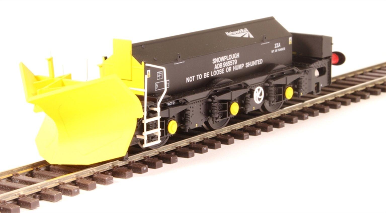 Beilhack snow plough (ex Class 40) ZZA ADB965579 in Network Rail black