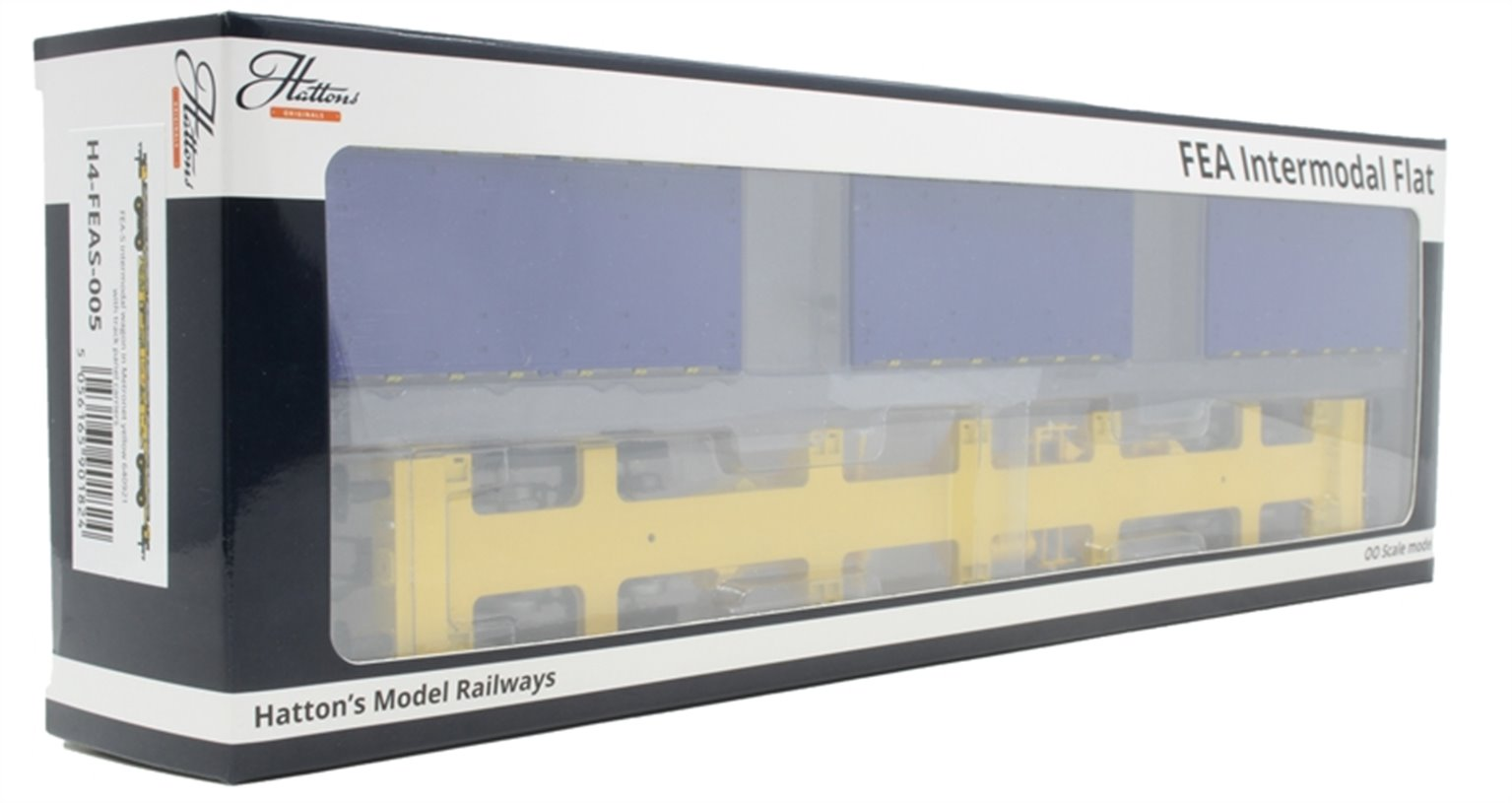 EA-S intermodal wagon in GBRf/Metronet yellow with track panel carrier