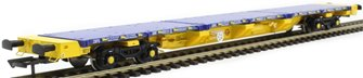 FEA-S intermodal wagon in GBRf/Metronet yellow with track panel carrier