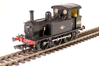 SECR P Class 0-6-0T 31323 in BR black with late crest