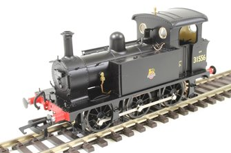 SECR P Class 0-6-0T 31556 in BR black with early emblem