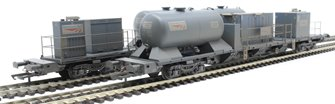 Rail Head Treatment Train 'Sandite' with 2 wagons and sandite modules - weathered