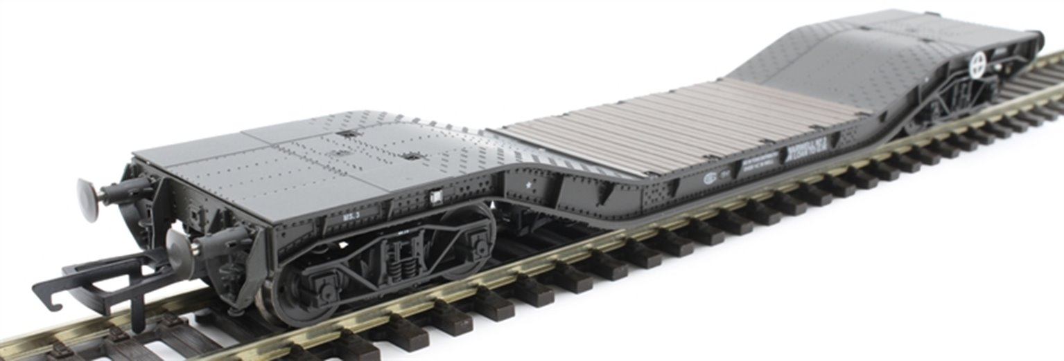 Warwell wagon 50t with diamond frame bogies MS.3 in WD livery (GWR)
