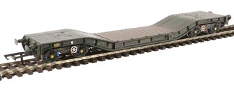 Warwell wagon 50t with Gloucester GPS bogies MODA95512 in MOD 1970s olive - weathered