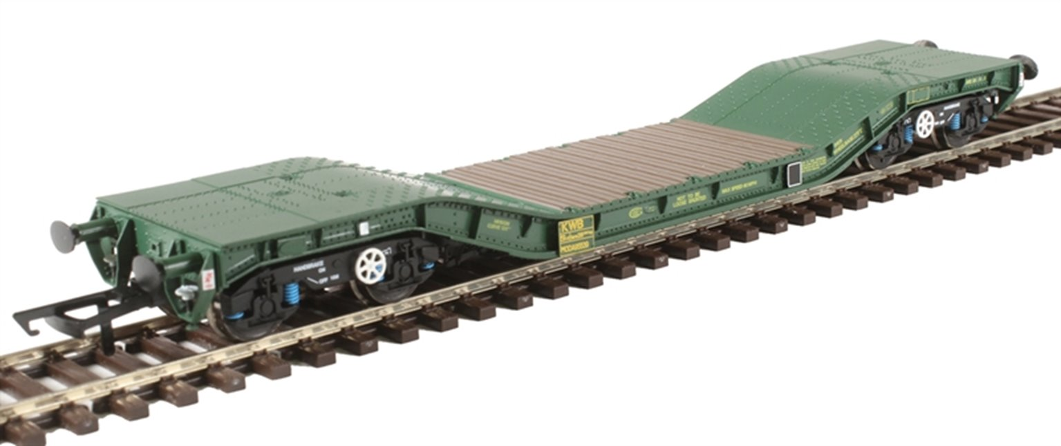Warwell wagon 50t with Gloucester GPS bogies MODA95539 in MOD 1990s olive