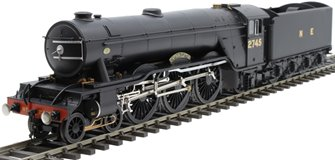 "Class A3 4-6-2 2745 ""Captain Cuttle"" in LNER black with unstreamlined non-corridor tender"