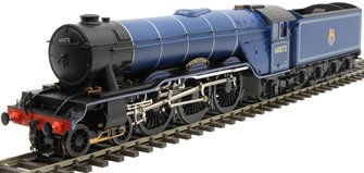 "Class A3 4-6-2 60072 ""Sunstar"" in BR Express blue with unstreamlined non-corridor tender"