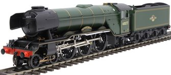 "Class A3 4-6-2 60077 ""The White Knight"" in BR green with late crest and unstreamlined non-corridor tender"