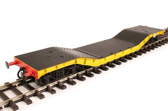 Warwell wagon 50t with diamond frame bogies ADRW96501 in BR engineers yellow