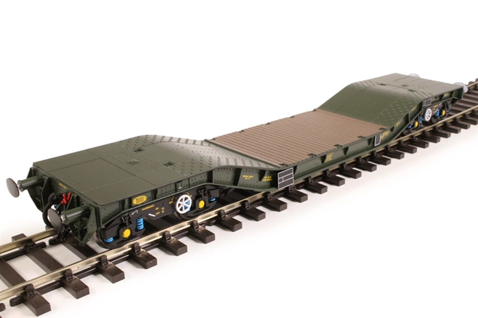 Warwell wagon 50t with Gloucester GPS bogies MODA95511 in MOD 1970s olive