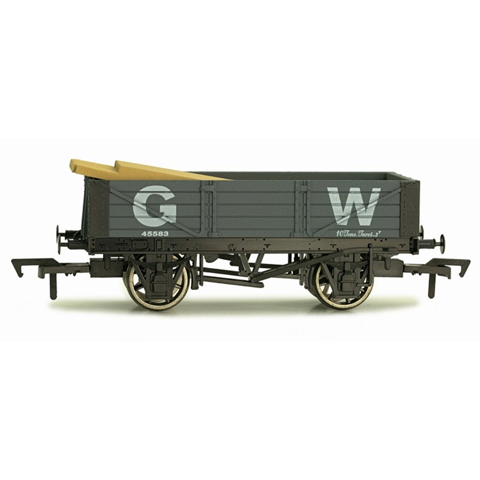 OO GAUGE 4 PLANK WAGON GWR 45583 WEATHERED