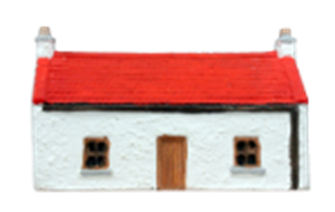 Country Cottage, whitewashed with red roof