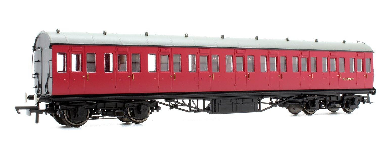 BR Ex-LMS Suburban Non-Corridor Third Class Coach 'M11973', Crimson