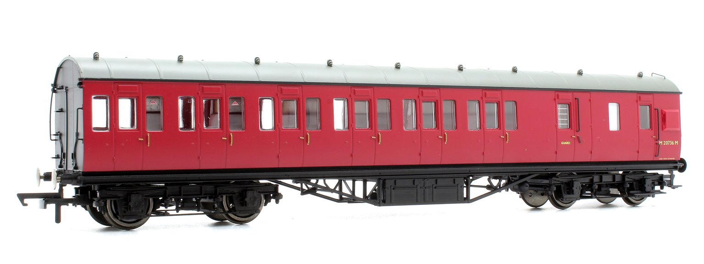 BR Ex-LMS Suburban Non-Corridor Third Class Brake Coach 'M20736M', Crimson