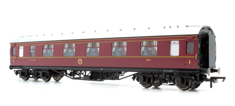 LMS Corridor 1st Class '1041', Crimson Lake