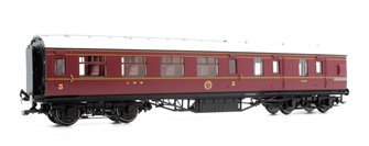 LMS Corridor Brake 3rd Class '5726', Crimson Lake
