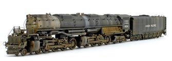 "Custom Weathered Union Pacific 4-8-8-4 ""Big Boy"" Heavy Freight Steam Locomotive No.4014"