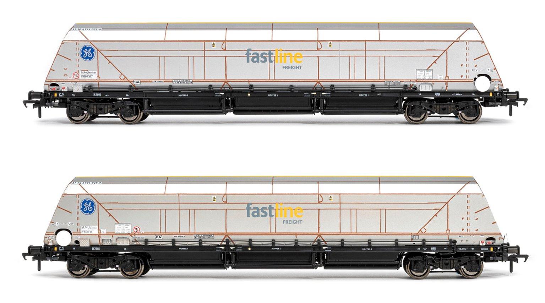 HYA Bogie Hopper Wagon - Fastline Freight / GE - Twin Pack 2