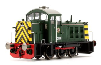 Class 07 - D2986 BR green with wasp stripes Diesel Shunter