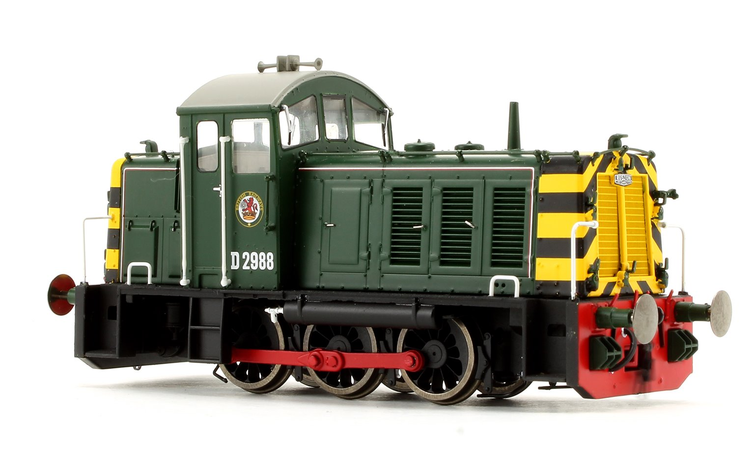 Class 07 - D2988 BR green with wasp stripes Diesel Shunter