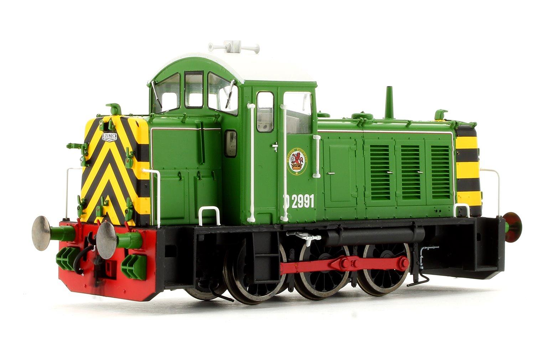 Class 07 - D2991 BR Eastleigh Works light green Diesel Locomotive