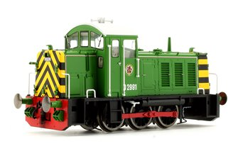 Class 07 - D2991 BR Eastleigh Works light green Diesel Locomotive