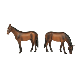 Bachmann G scale Horses Standing and Grazing