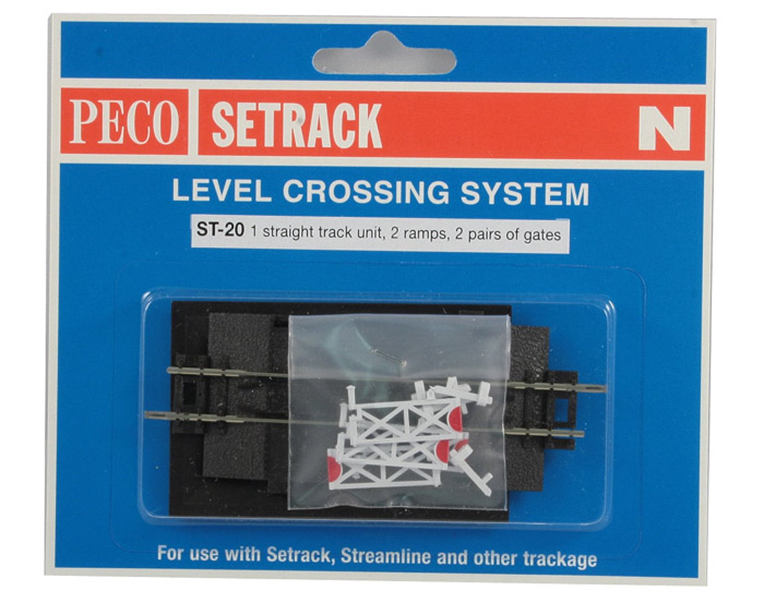 ST-20 ST20 Level Crossing with gates for single track (N Gauge) by ...